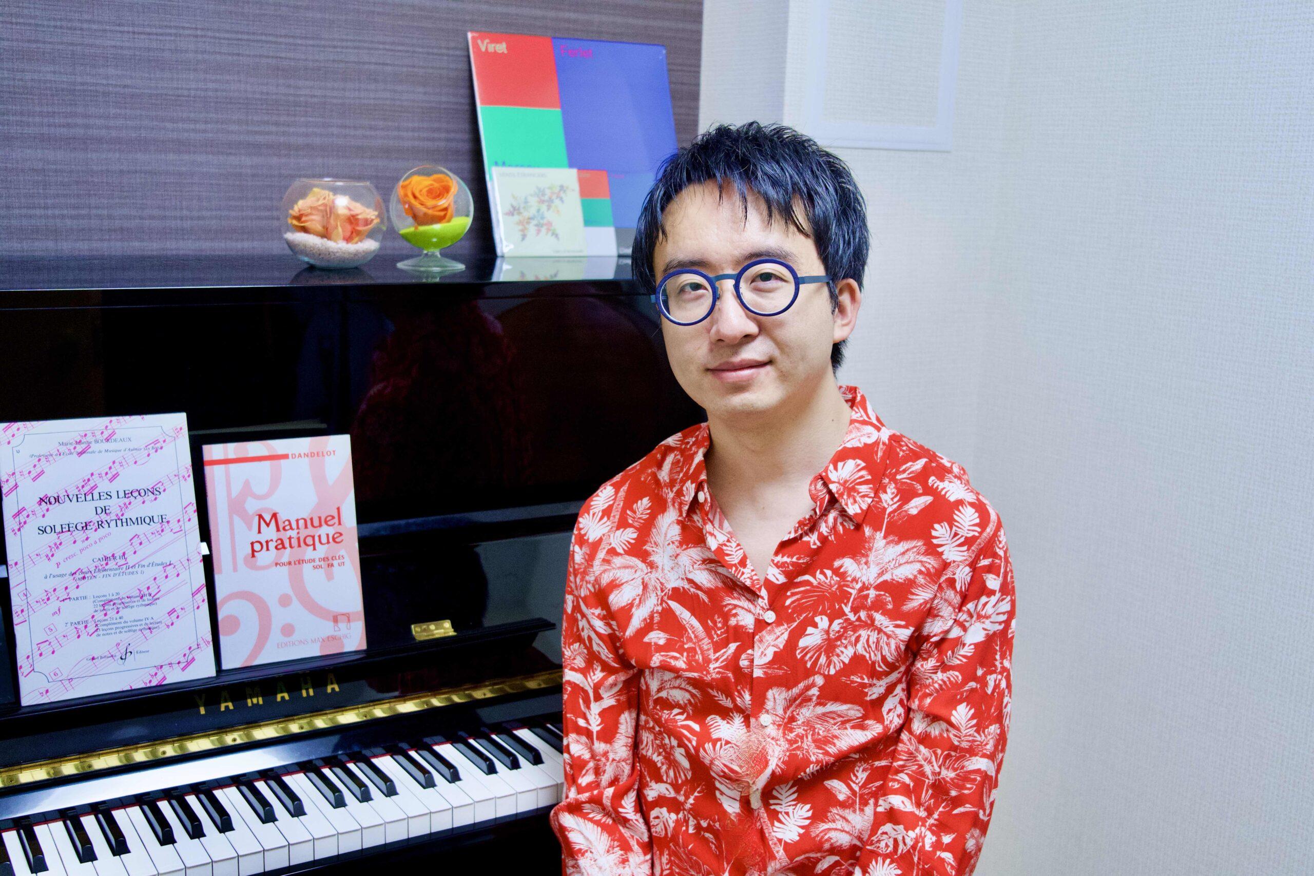 カサメミュージックスクールソルフェージュ・楽典科講師、榊原太郎先生の写真
